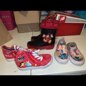 Lot of 9c Disney shoes